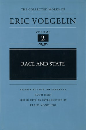 Race and State (CW2) Hardcover  by Eric Voegelin