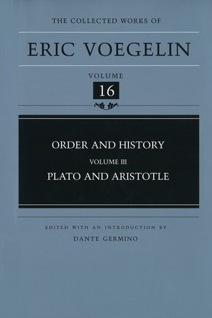 Order and History, Volume 3 (CW16) Hardcover  by Eric Voegelin