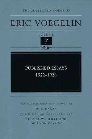 Published Essays, 1922-1928 (CW7) Hardcover  by Eric Voegelin