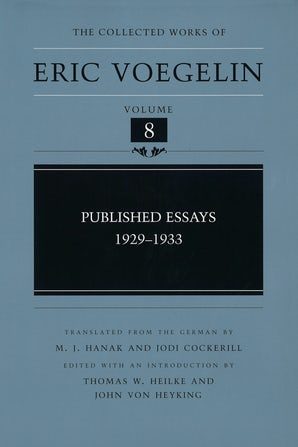 Published Essays, 1929-1933 (CW8)
